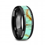 Thorsten PIETRO Men's Polished Black Ceramic Wedding Band W1495-BCTI