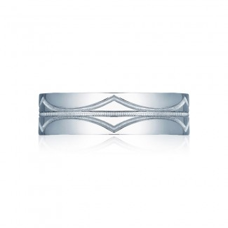 Tacori 102-7  Platinum Mens Sculpted Crescent Wedding Band