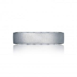 Tacori 105-6S  Platinum Mens Sculpted Crescent Wedding Band