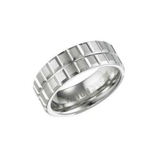 Triton White Tungsten Carbide Comfort Fit Band 11-01-4423