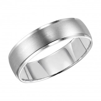 Goldman 14k White Gold Mens Comfort-Fit Wedding Band 11-8052W-G.00