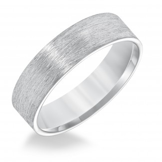 Goldman 14k White Gold Mens Comfort-Fit Wedding Band 11-8587W6-G.00