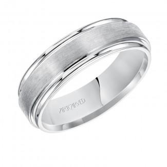Artcarved 11-WV7469W  14k White Gold Mens  Wedding Band