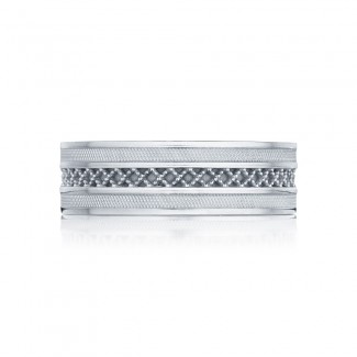 Tacori 122-7  Platinum Mens Sculpted Crescent Wedding Band