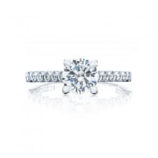 Tacori 200-2RD65 Platinum Sculpted Crescent Engagement Ring