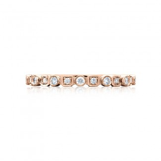 Tacori 201-2PK  18k Rose Gold Ladies Sculpted Crescent Wedding Band