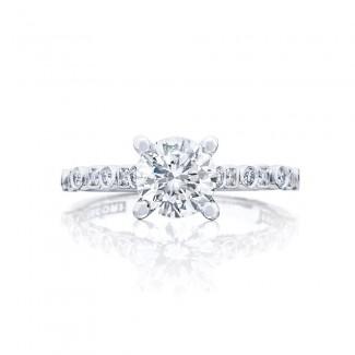 Tacori 201-2RD65 Platinum Sculpted Crescent Engagement Ring