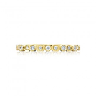Tacori 201-2Y  18k Yellow Gold Ladies Sculpted Crescent Wedding Band