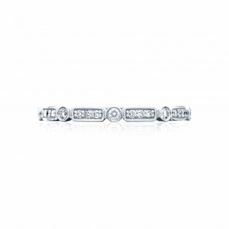 Tacori 202-2ET  Platinum Ladies Sculpted Crescent Wedding Band