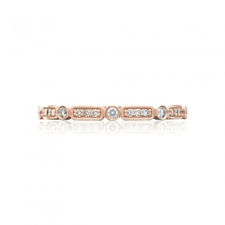 Tacori 202-2PK  18k Rose Gold Ladies Sculpted Crescent Wedding Band