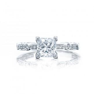 Tacori 202-2PR55 Platinum Sculpted Crescent Engagement Ring