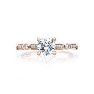 Tacori 202-2RD55PK 18 Karat Sculpted Crescent Engagement Ring