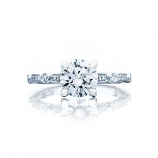 Tacori 202-2RD7 Platinum Sculpted Crescent Engagement Ring