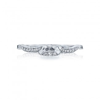 Tacori 2573MDB  Platinum Ladies Ribbon Wedding Band
