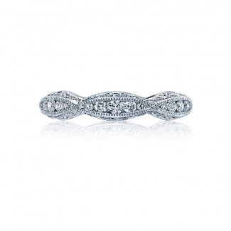 Tacori 2578B  Platinum Ladies Classic Crescent Wedding Band