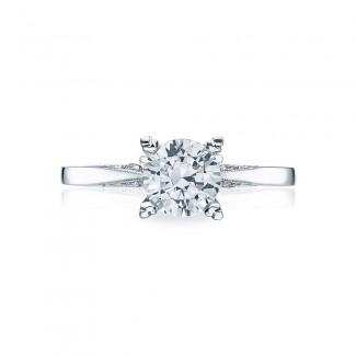 Platinum Simply Tacori Solitaire Engagement Ring 2584RD65