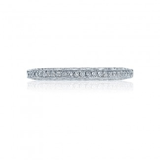 Tacori 2616B12X  Platinum Ladies Classic Crescent Wedding Band