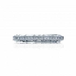 Tacori 2617B12  Platinum Ladies Reverse Crescent Wedding Band
