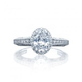 Tacori 2618OV75X55 Platinum Reverse Crescent Engagement Ring