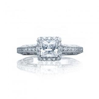 Tacori 2618PR5 Platinum Reverse Crescent Engagement Ring