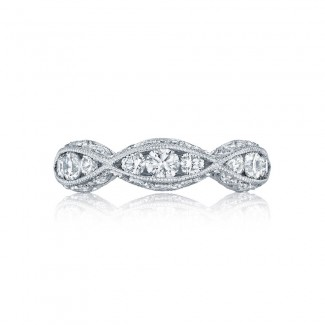 Tacori 2644B12  Platinum Ladies  Wedding Band