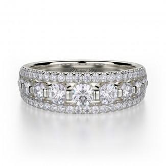 MICHAEL M 18k White Gold Wedding Band R306B-18W