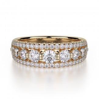 MICHAEL M 18k Yellow Gold Wedding Band R306B-18Y