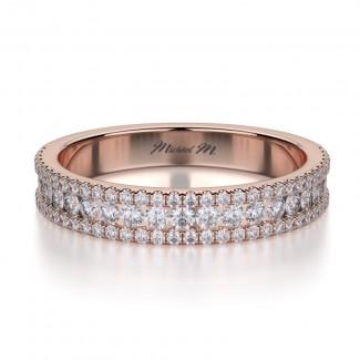MICHAEL M 18k Rose Gold Wedding Band R396BS-18R