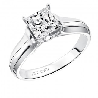 Artcarved 31-V126FCW Classic 14k White Gold Ladies  Engagement Ring