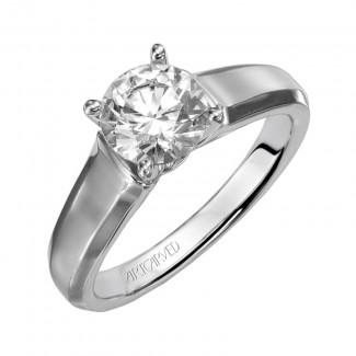 Artcarved 31-V126FRW Classic 14k White Gold Ladies  Engagement Ring