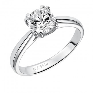 Artcarved 31-V154ERW Classic 14k White Gold Ladies  Engagement Ring