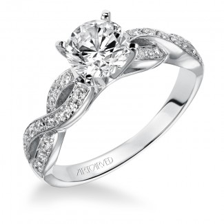 Artcarved 31-V158ERW-E.00 Contemporary 14k White Gold Ladies  Engagement Ring