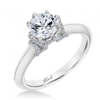 Karl Lagerfeld 31-KA153GRP Classic 18k White God Ladies  Engagement Ring