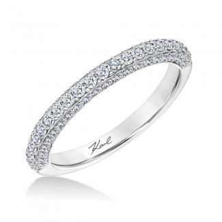 Karl Lagerfeld 31-KA100W-L.00  18k White Gold Ladies Arch Wedding Band