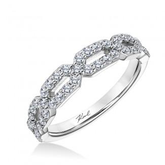 Karl Lagerfeld 31-KA107GRW-E.00  18k White Gold Ladies Arch Wedding Band