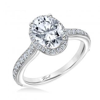Karl Lagerfeld 31-KA160ERW-E.00  18k White Gold Ladies Pyramid Engagement Ring