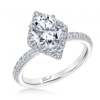 Karl Lagerfeld 31-KA174ERW-E.00  18K White Gold Ladies Tour Engagement Ring
