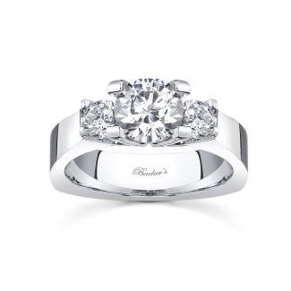 Three Stone Moissanite Engagement Ring MOI-4507L