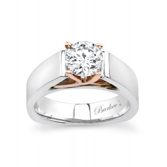 Barkevs Two Tone Solitaire Engagement Ring  4801LW