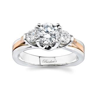 Barkevs Rose Gold Three Stone Ring 6713LTW