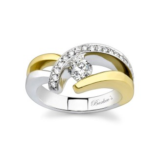 Barkevs Two Tone Diamond Engagement Ring 6722LYW