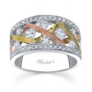 Barkevs Tri Color Diamond Band 6723LW