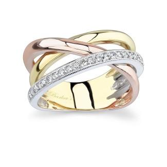 Tri Color Diamond Band 6950LT