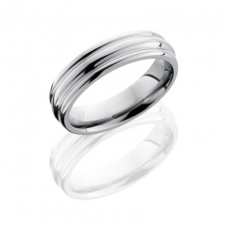 Lashbrook Titanium 6mm Domed Band With Rounded Edges 6RED