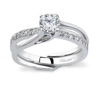 Barkevs White Gold Diamond Engagement Ring Set 7243SW