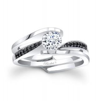 Barkevs Black Diamond Bridal Set 7327SBKW