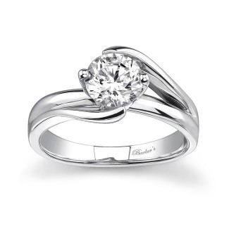 Barkevs Round Solitaire Ring  7378LW