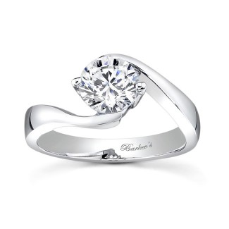 Barkevs Round Solitaire Engagement Ring  7499LW
