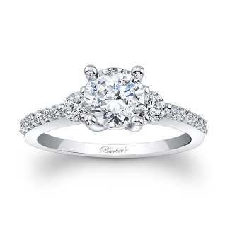 Three Stone Diamond Engagement Ring 7539L