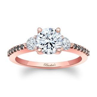 Rose Gold Three Stone Ring 7539LPBK